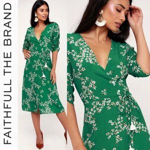 b64484b68155 Faithfull the Brand Dresses - 🆕 Faithfull the Brand Green Floral Wrap Dress